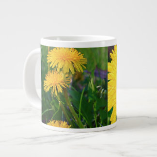 Dandelions Collage Large Coffee Mug