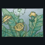 "Dandelions  Illustration Cloth Placemat<br><div class=""desc"">A charming illustration of dandelions which translates to the lions tooth,  represents courage,  family,  pride as well as the sun. May this illustration shine a new light of curiousity and learning of nature.</div>"