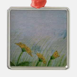 Dandelions in the field christmas tree ornament