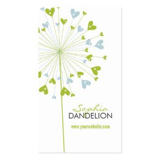 Dandelions Love Hearts Blue Wedding Profile Card