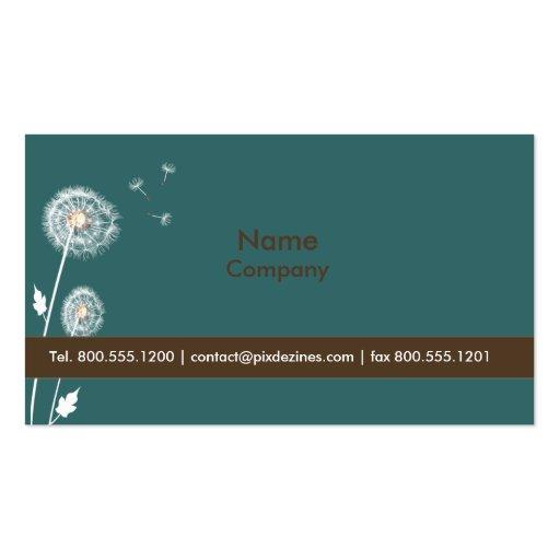 Dandelions Profile Cards, award winner Business Card