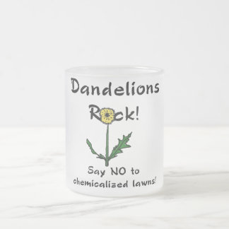 Dandelions Rock T-shirts and Gifts 10 Oz Frosted Glass Coffee Mug