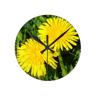 Dandelions Round Clock