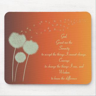 Dandelions Serenity Prayer Customizable Mouse Pad