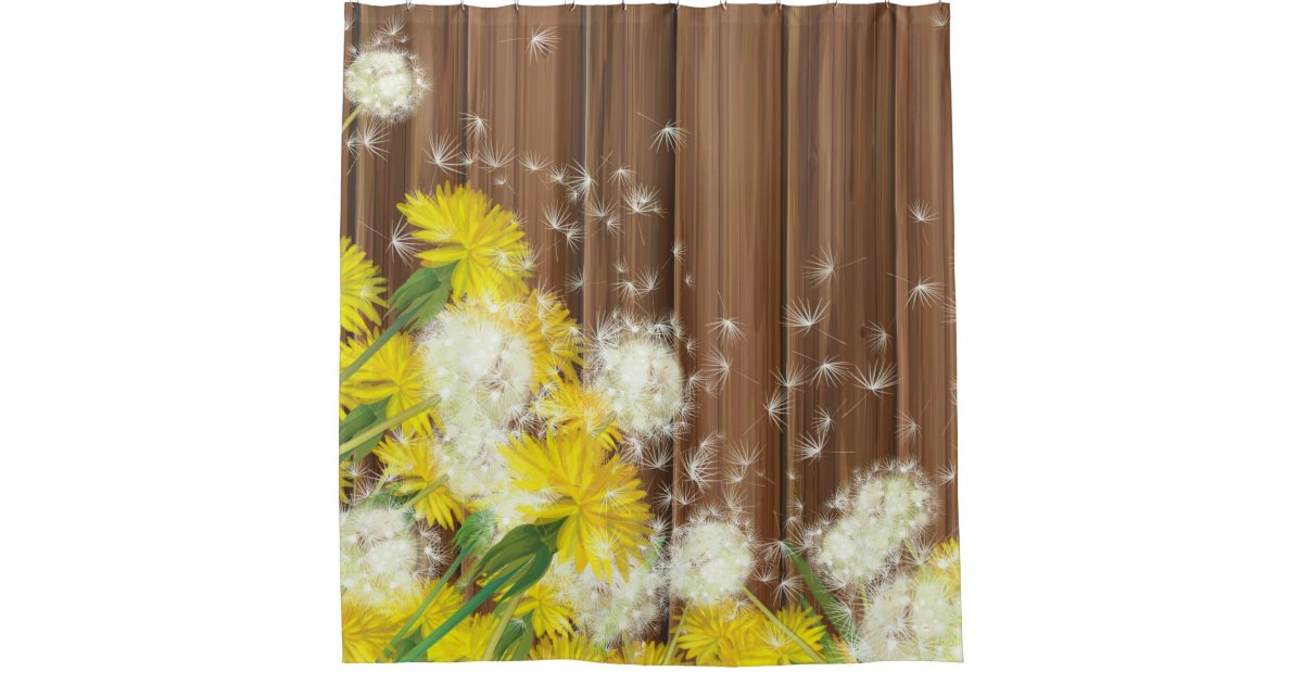 dandelions shower curtain zazzle