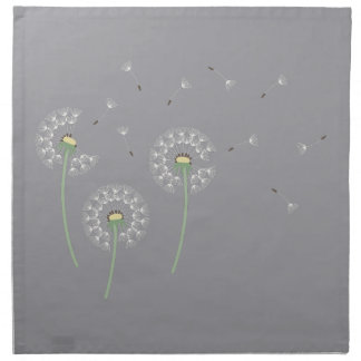 Dandelions Slate Cloth Napkin