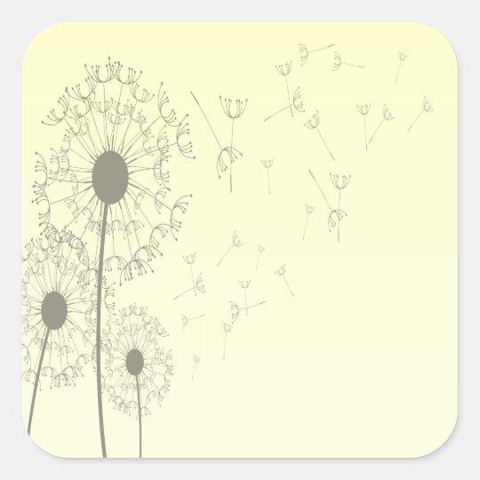 Dandelions Square Sticker