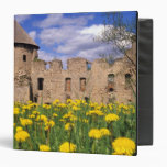Dandelions surround Cesis Castle in central 3 Ring Binder