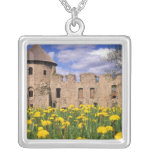 Dandelions surround Cesis Castle in central Silver Plated Necklace