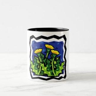 Dandelions Two-Tone Coffee Mug