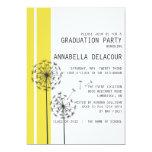 "Dandelions Yellow Graduation Party Invitation 5"" X 7"" Invitation Card"