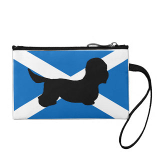 dandie dinmont silhouette Scotland flag Change Purse