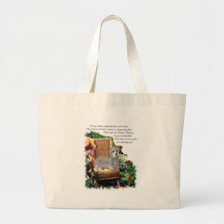 Dandie Dinmont Terrier Art Gifts Large Tote Bag