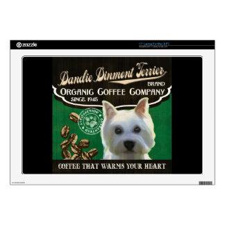 """Dandie Dinmont Terrier Brand 17"""" Laptop Decals"""