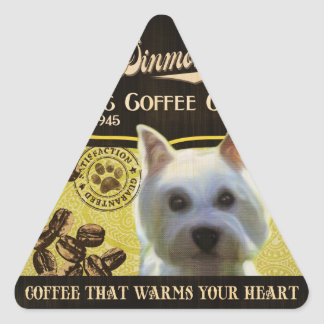 Dandie Dinmont Terrier Brand – Organic Coffee Comp Triangle Sticker