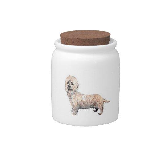 Dandie Dinmont Terrier Candy Jar