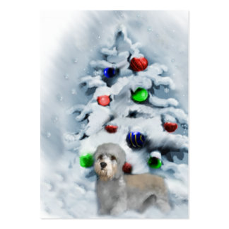Dandie Dinmont Terrier Christmas Large Business Card