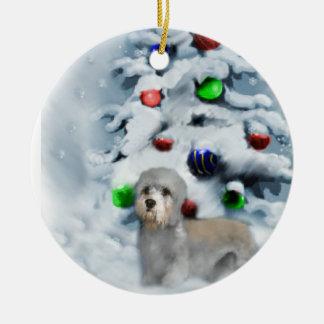 Dandie Dinmont Terrier Christmas Ornament