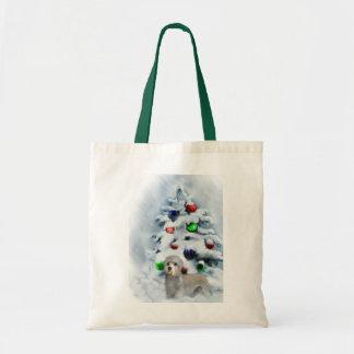 Dandie Dinmont Terrier Christmas Tote Bag