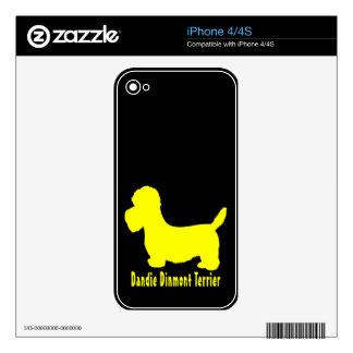 Dandie Dinmont Terrier Decals For The iPhone 4