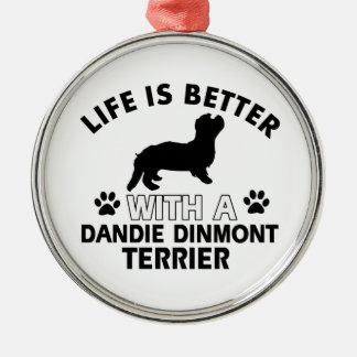 Dandie Dinmont Terrier designs Christmas Tree Ornaments