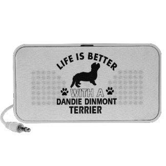 Dandie Dinmont Terrier designs Portable Speaker