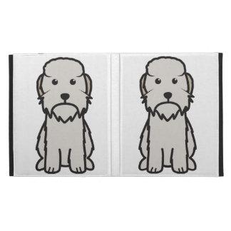 Dandie Dinmont Terrier Dog Cartoon iPad Folio Covers