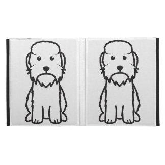 Dandie Dinmont Terrier Dog Cartoon iPad Folio Cover