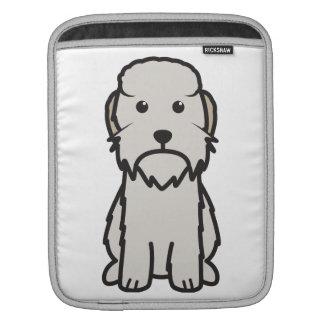 Dandie Dinmont Terrier Dog Cartoon iPad Sleeve