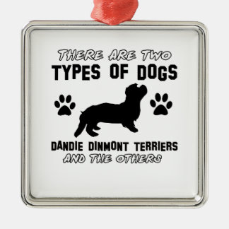 Dandie Dinmont Terrier dog designs Ornament