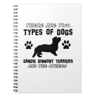 Dandie Dinmont Terrier dog designs Spiral Notebook