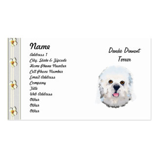 Dandie Dinmont Terrier - Face Portrait Business Card