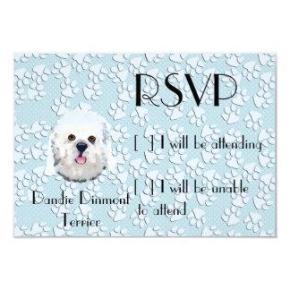 Dandie Dinmont Terrier - Face Portrait Card