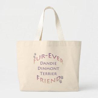 Dandie Dinmont Terrier Furever Large Tote Bag