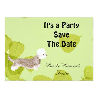 Dandie Dinmont Terrier ~ Green Leaves Design Card