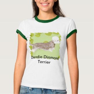 Dandie Dinmont Terrier ~ Green Leaves Design T-Shirt