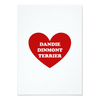 "Dandie Dinmont Terrier Invitación 5"" X 7"""