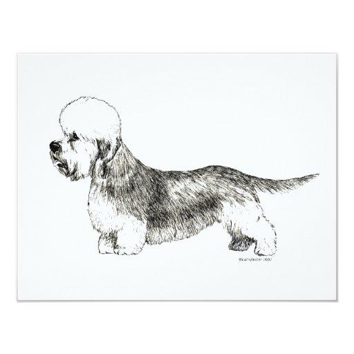 Dandie Dinmont Terrier 4.25x5.5 Paper Invitation Card