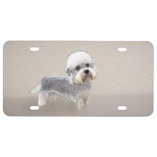 Dandie Dinmont Terrier Painting Original Dog Art License Plate