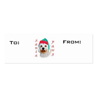 Dandie Dinmont Terrier Paws Gift Tags Mini Business Card