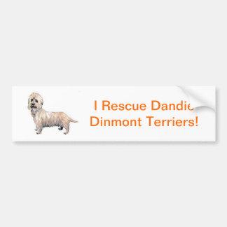 Dandie Dinmont Terrier Pegatina Para Auto
