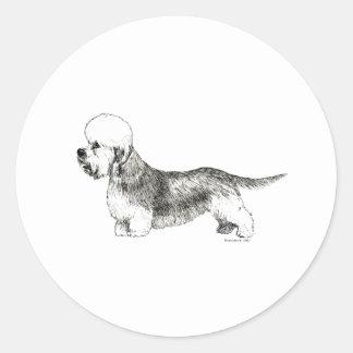 Dandie Dinmont Terrier Pegatina Redonda