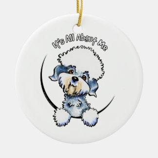 Dandie Dinmont Terrier Pepper IAAM Round Ceramic Ornament