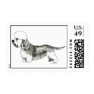 Dandie Dinmont Terrier Postage Stamp