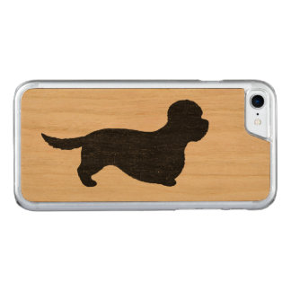 Dandie Dinmont Terrier Silhouette Carved iPhone 8/7 Case