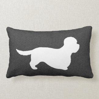 Dandie Dinmont Terrier Silhouette Lumbar Pillow