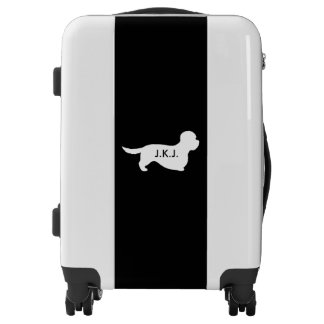 Dandie Dinmont Terrier Silhouette Personalized Luggage