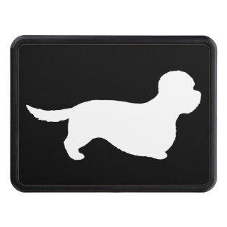 Dandie Dinmont Terrier Silhouette Trailer Hitch Cover