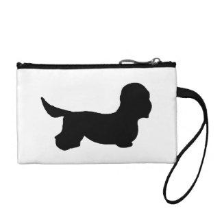 Dandie Dinmont Terrier silo black Coin Wallet