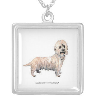 Dandie Dinmont Terrier Silver Plated Necklace